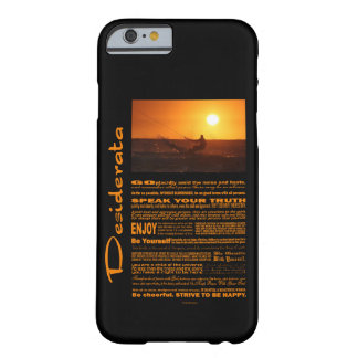 Desiderata Poem Kite Surfer At Sunset Barely There iPhone 6 Case