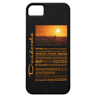 Desiderata Poem Kite Surfer At Sunset Case For The iPhone 5