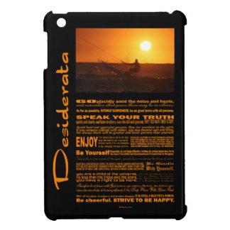 Desiderata Poem Kite Surfer At Sunset iPad Mini Covers