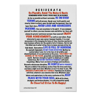 DESIDERATA Poem=Max Ehrmann=LIFE Version Poster