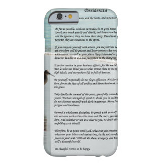 Desiderata Poem - Seagull on the Beach Scene iPhone 6 Case