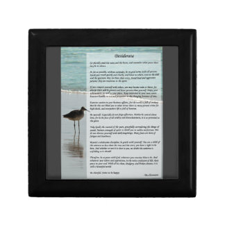 Desiderata Poem - Seagull on the Beach Scene Gift Box