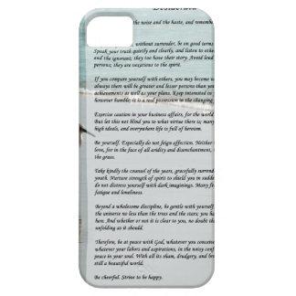 Desiderata Poem - Seagull on the Beach Scene iPhone 5 Cases