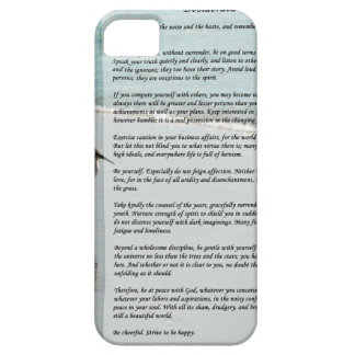 Desiderata Poem - Seagull on the Beach Scene iPhone 5 Cover