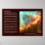 Desiderata Poem - The Omega Nebula, deep zoom Poster
