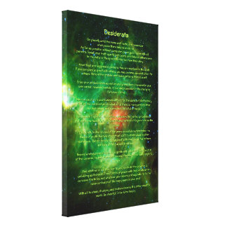 Desiderata Poem - Wreath Nebula, Milky Way Canvas Print
