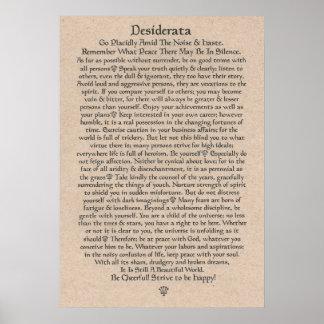 DESIDERATA Poster by Max Ehrmann=Mediaeval Crowns