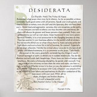 Desiderata Poster=Meditating Yoga Yin Yang Design Poster