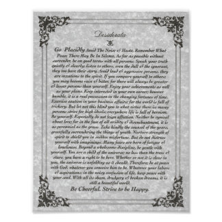 DESIDERATA Poster on Parchment