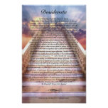 DESIDERATA Poster on Stairway To Heaven