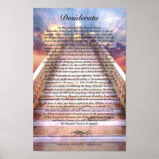DESIDERATA Poster on Stairway To Heaven