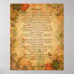 Desiderata prose on Fall colours background