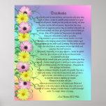 Desiderata prose rainbow colours poster