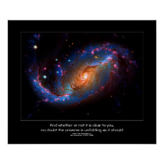 Desiderata quote - Barred Spiral Galaxy NGC 1672 Poster