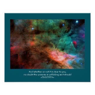 Desiderata quote - Center of The Swan Nebula Posters