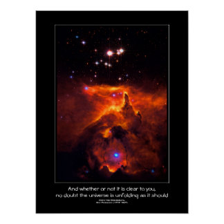 Desiderata quote - Star Cluster Pismis 24 Poster