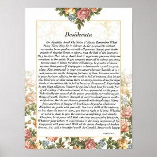 DESIDERATA Rosepaper Poster