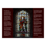 Desiderata - St George stained glass window Posters