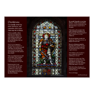 Desiderata - St George stained glass window Poster