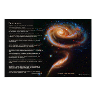 Desiderata - The Rose Galaxies, Arp 273 Poster