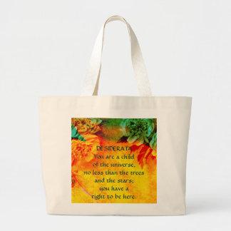 "DESIDERATA ""Tropic Borders"" Jumbo Tote Bag"