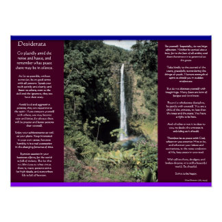 DESIDERATA Waterfalls Posters 6 Poster