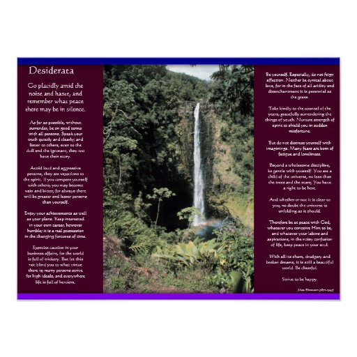 DESIDERATA Waterfalls Posters 6