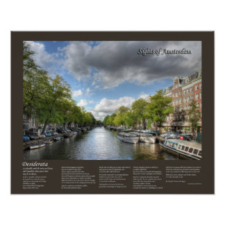 Desiderata - Wolvenstraat / Singel Canal Amsterdam Poster