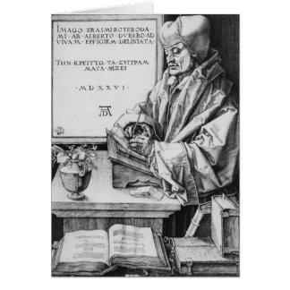 Desiderius Erasmus  of Rotterdam, 1526 Card