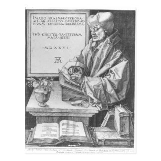 Desiderius Erasmus  of Rotterdam, 1526 Postcard