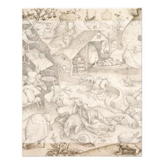 Desidia (Sloth) by Pieter Bruegel the Elder 11.5 Cm X 14 Cm Flyer