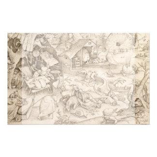 Desidia (Sloth) by Pieter Bruegel the Elder 14 Cm X 21.5 Cm Flyer