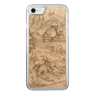 Desidia (Sloth) by Pieter Bruegel the Elder Carved iPhone 8/7 Case