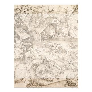 Desidia Sloth by Pieter Bruegel the Elder Custom Flyer