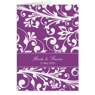 DESIGN 03- Colour Purple Greeting Cards