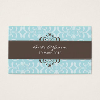 DESIGN 04- Colour: Blue & Chocolate Business Card