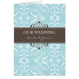 DESIGN 04- Colour: Blue & Chocolate Greeting Card