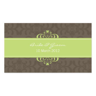 DESIGN 04- Colour: Green & Chocolate Business Card Template