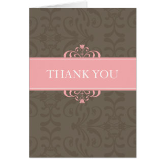 DESIGN 04- Colour: Pink & Chocolate Card