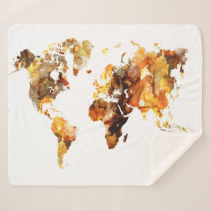 Make your own world map blanket bundle up in yours today zazzle uk design 102 world map sherpa blanket gumiabroncs Choice Image