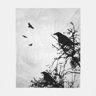 Design 43 Crow Bird Fleece Blanket