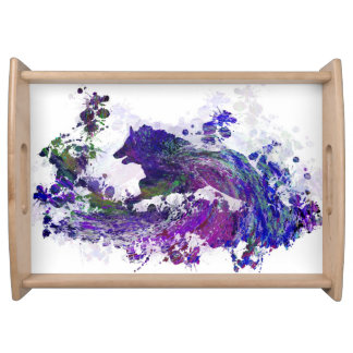 Design 44 dog silhouette serving tray
