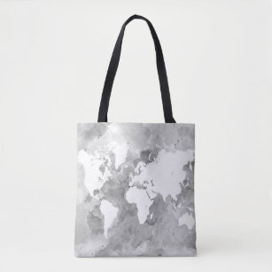 World map designs bags handbags zazzle design 49 grey world map tote bag gumiabroncs Choice Image