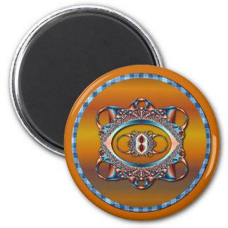 Design 6 Fractal 6 Cm Round Magnet