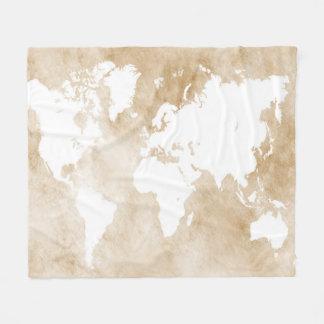 Design 82 world map fleece blanket