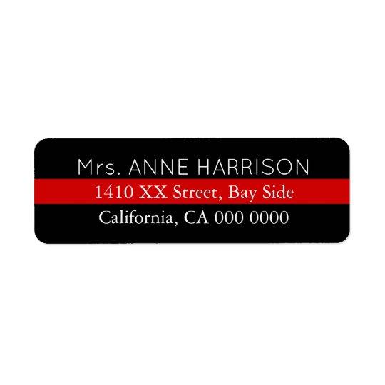 design a black & red striped