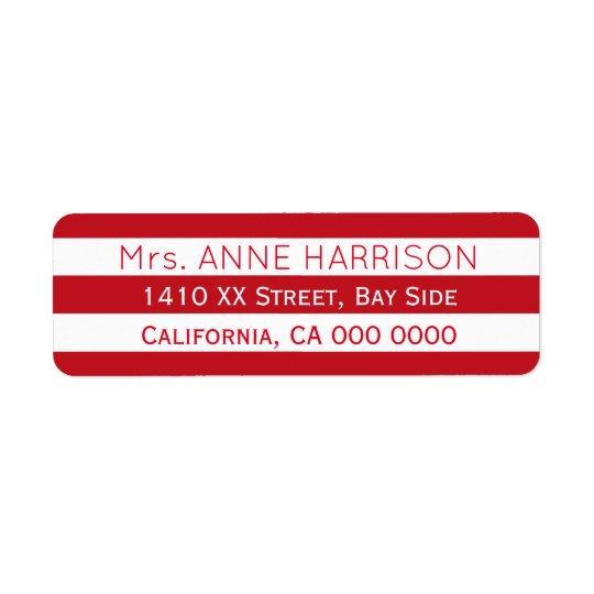 design a red & white striped