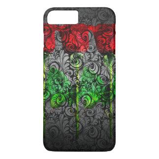 design art red green rose iPhone 8 plus/7 plus case