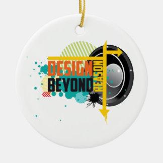 Design Beyond Reason graphic Round Ceramic Decoration
