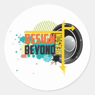 Design Beyond Reason graphic Round Sticker